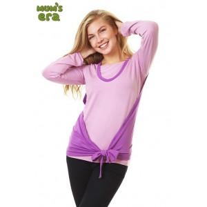 Блуза Evolution с накидкой, роз/сирень., дл. рук., р. S
