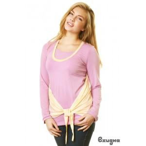 Блуза Evolution с накидкой, роз/экрю., дл. рук., р. M