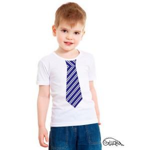 """Футболка детская """"Галстук"""", белая, 4 года"""