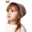 Шапка детская, фиолет/беж