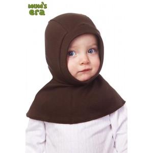 """Шлем детский, трикотаж, """"Коричневый"""",  0-1 год"""