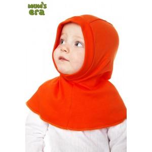"""Шлем детский, трикотаж, """"Оранжевый"""", 1-2 года"""