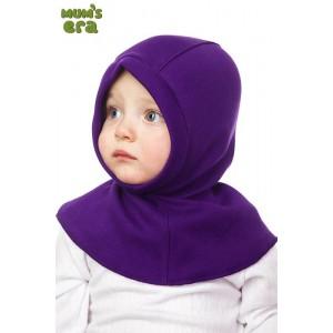 """Шлем детский, трикотаж, """"Сиреневый"""", 1-2 года"""