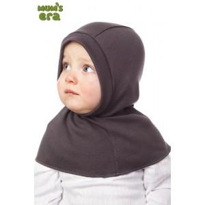 "Шлем детский, трикотаж, ""Т.-серый меланж"", 1-2 года"