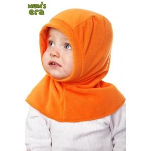 """Шлем детский флисовый """"Оранжевый"""", 0-1 год"""