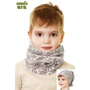 Повязка-труба детская, серый/орнамент