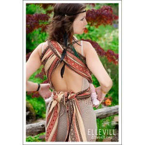 Слинг-шарф Ellevill Zara Tricolor Indian