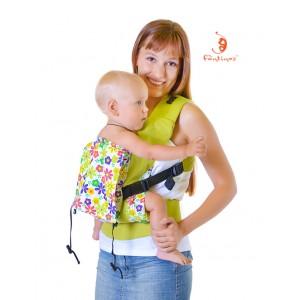 Эргономичный слинг-рюкзак облегченный (без кармана) ЯГОДА-МАЛИНА Комфорт